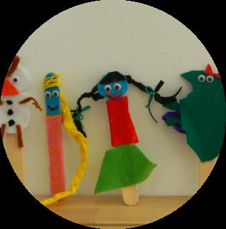Marionetas hechas a mano