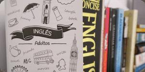 Libros de ingles y tríptico