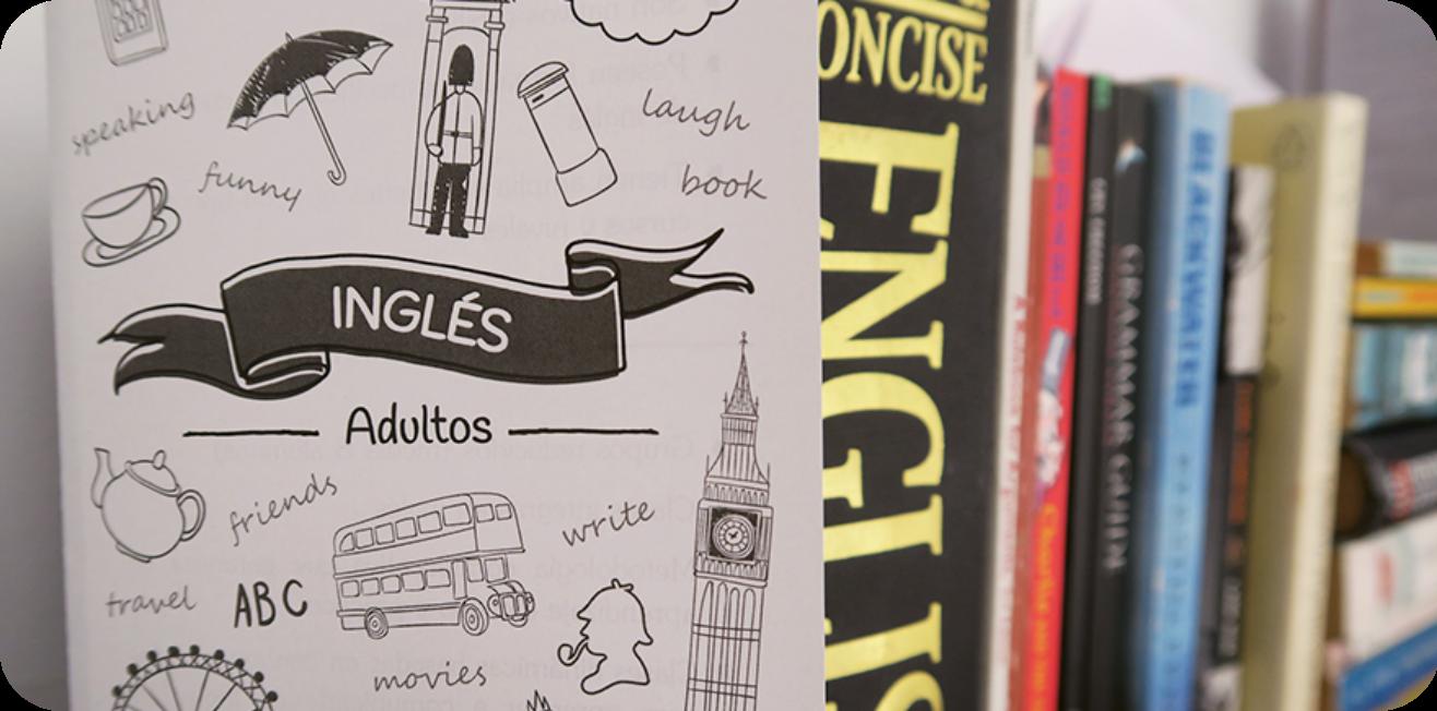 Libros de inglés sobre estantería
