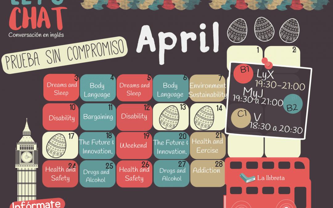 Lets chat abril