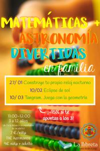 Astronomía y matemáticas divertidas @ Academia La llibreta