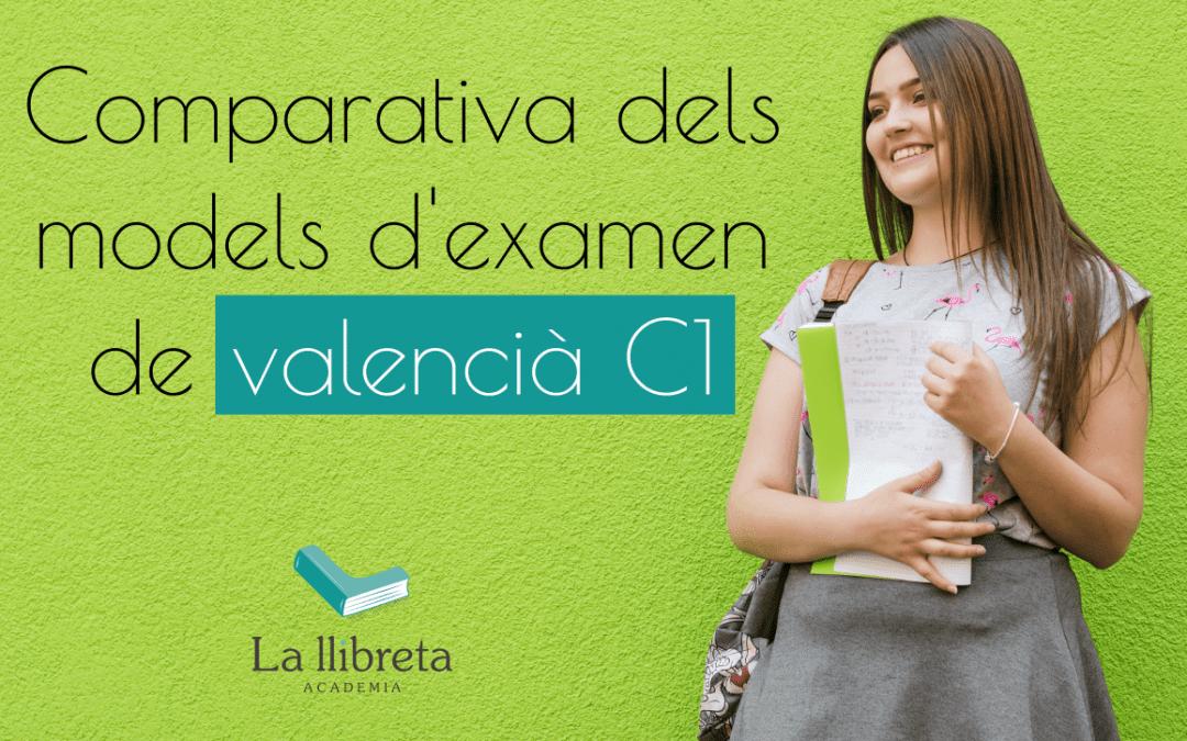 Comparativa models examen C1 valencià.