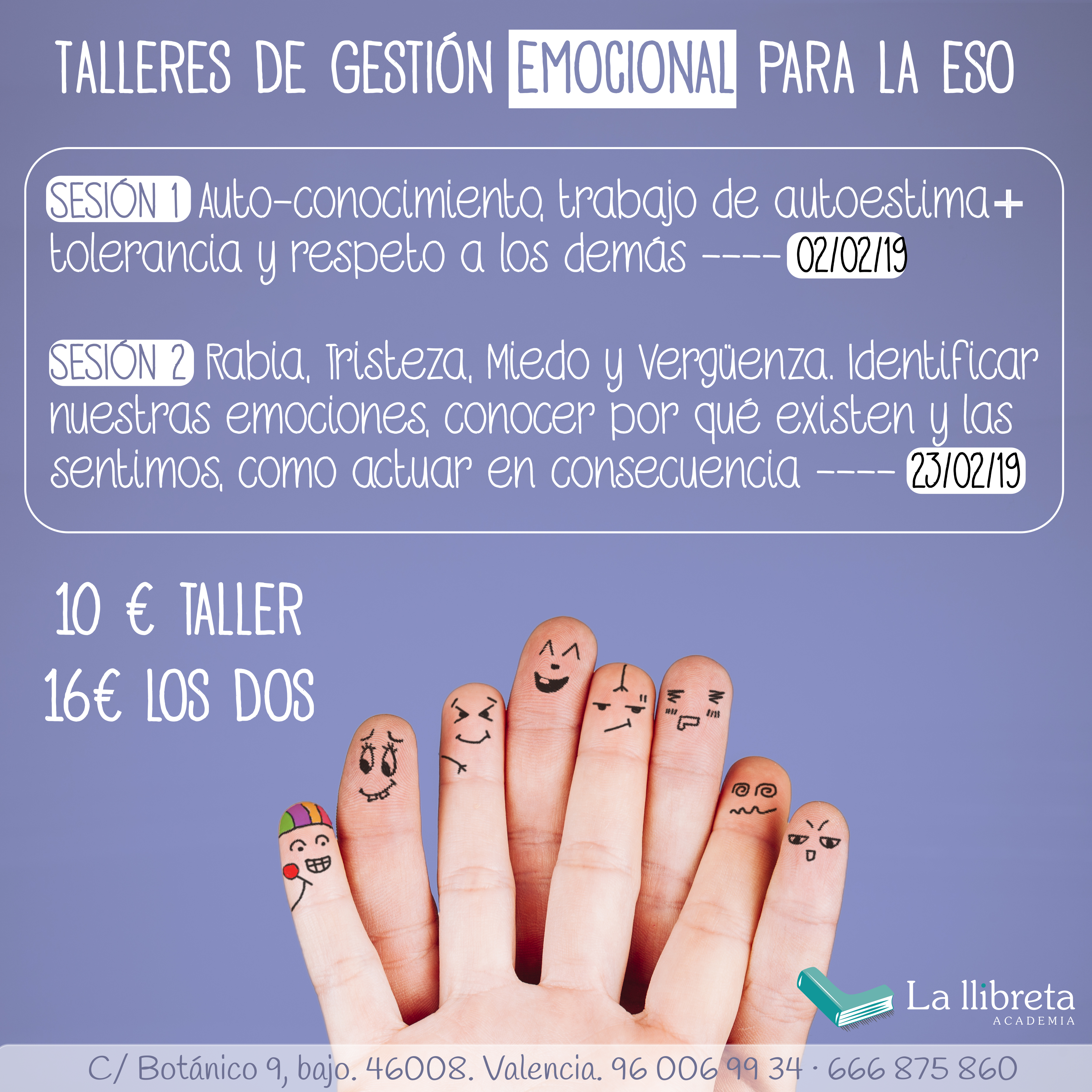 Gestión emocional ESO @ Academia la llibreta | València | Comunidad Valenciana | España