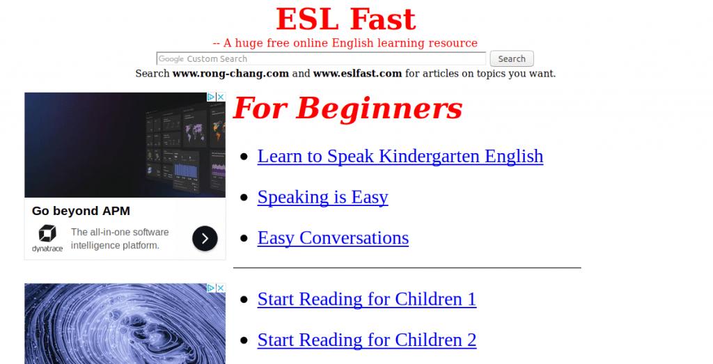 ESL fast