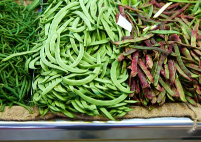 """Bajoquetes"", typical mediterranean green beans"