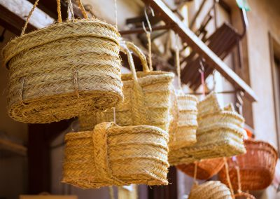 Traditional esparto grass basket