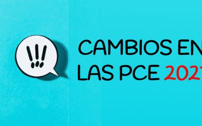 Cambios en los exámenes PCE (Convocatoria UNEDAsiss 2021)